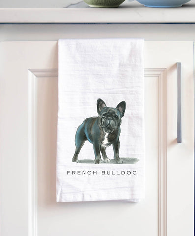 French Bulldog Bath Hand Towel