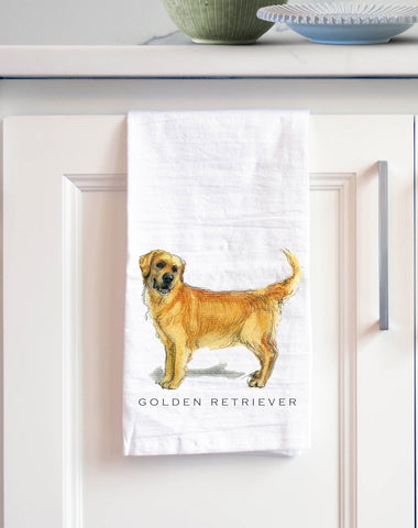 Golden Retriever Bath Hand Towel