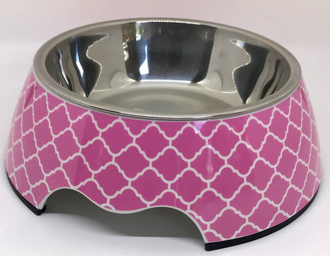 Cutesy Pink Medium Size Dog Bowl
