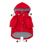 Seaport Rainwear Red Dog Coat