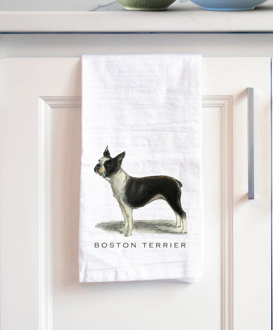 Boston Terrier Bath Hand Towel
