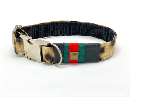Anubis Leopard Dog Collar