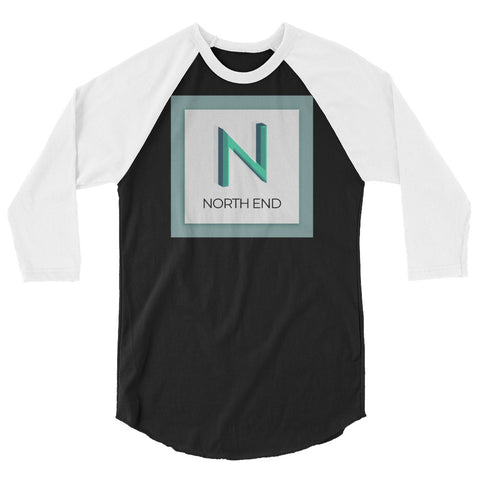 North End 3/4 sleeve raglan shirt
