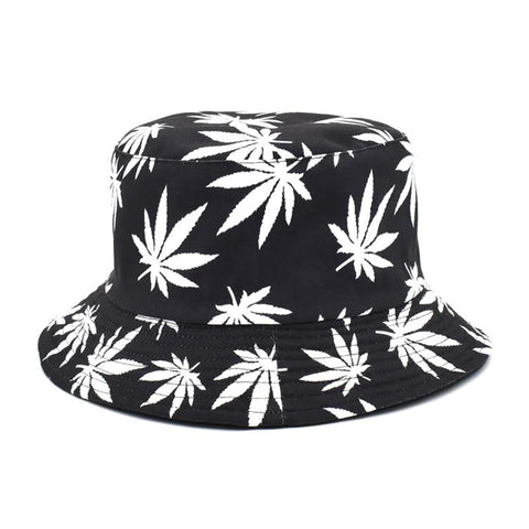 Cannabis Reversible Bucket Sun Hat