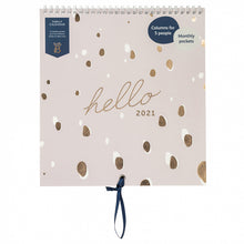 Load image into Gallery viewer, Busy B Lilac Spot Family Calendar 2021