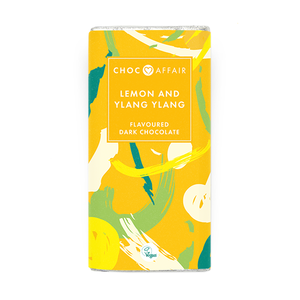 Lemon & Ylang Ylang Handmade Dark Chocolate Bar