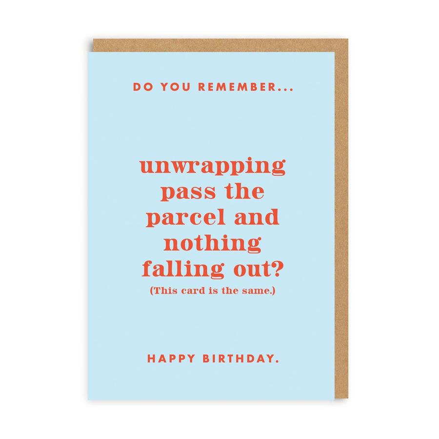 Do You Remember Pass The Parcel? Greetings Card