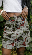 Load image into Gallery viewer, Run & Fly Grey Adventure Dinosaur Skirt