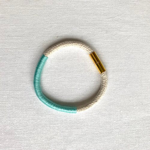 Mint Ann Rope & Thread Bracelet