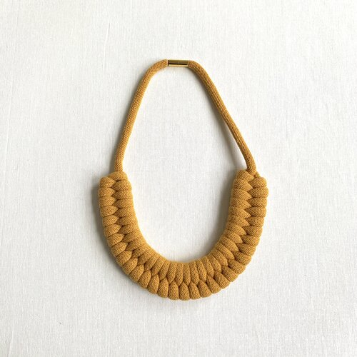 Mustard Elspeth Rope Necklace