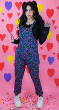 Load image into Gallery viewer, Run & Fly Cotton Twill Stretch '90s Memphis Print Dungarees