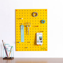 Load image into Gallery viewer, Block Design Pegboard - Mustard Yellow