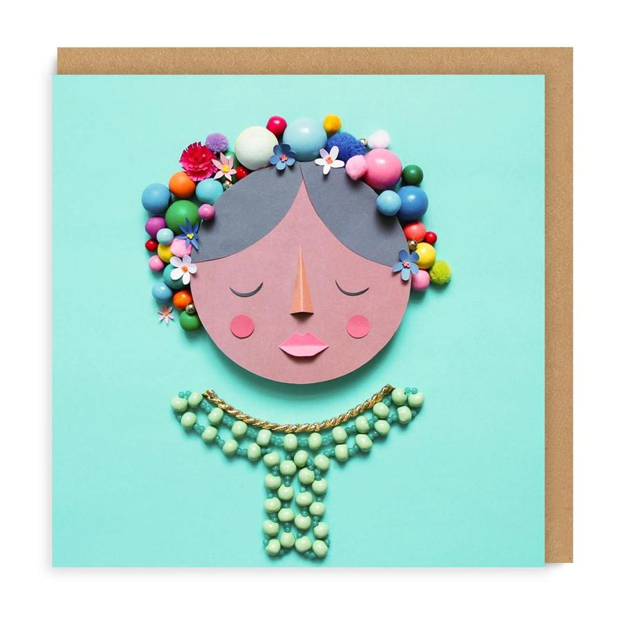 Frida Square Greetings Card