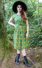 Load image into Gallery viewer, Run & Fly Green Sunflower Dress