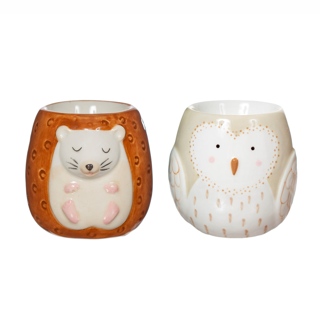 Forest Folk Owl & Hedgehog Set of 2 Egg Cups
