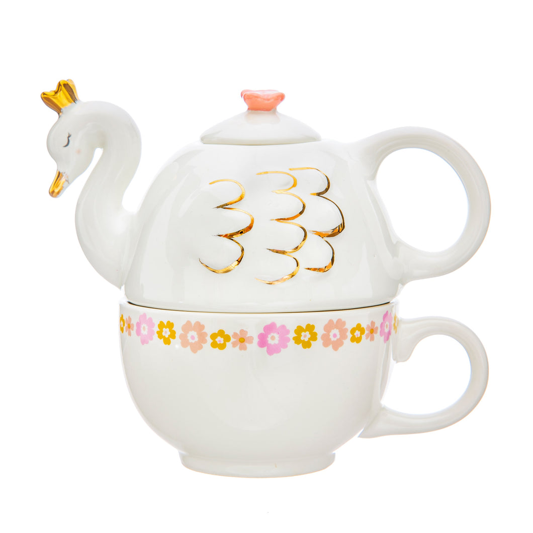 Tea For One Teapot & Cup Set