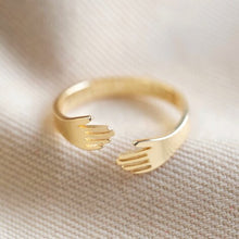 Load image into Gallery viewer, Adjustable Gold Hug Ring