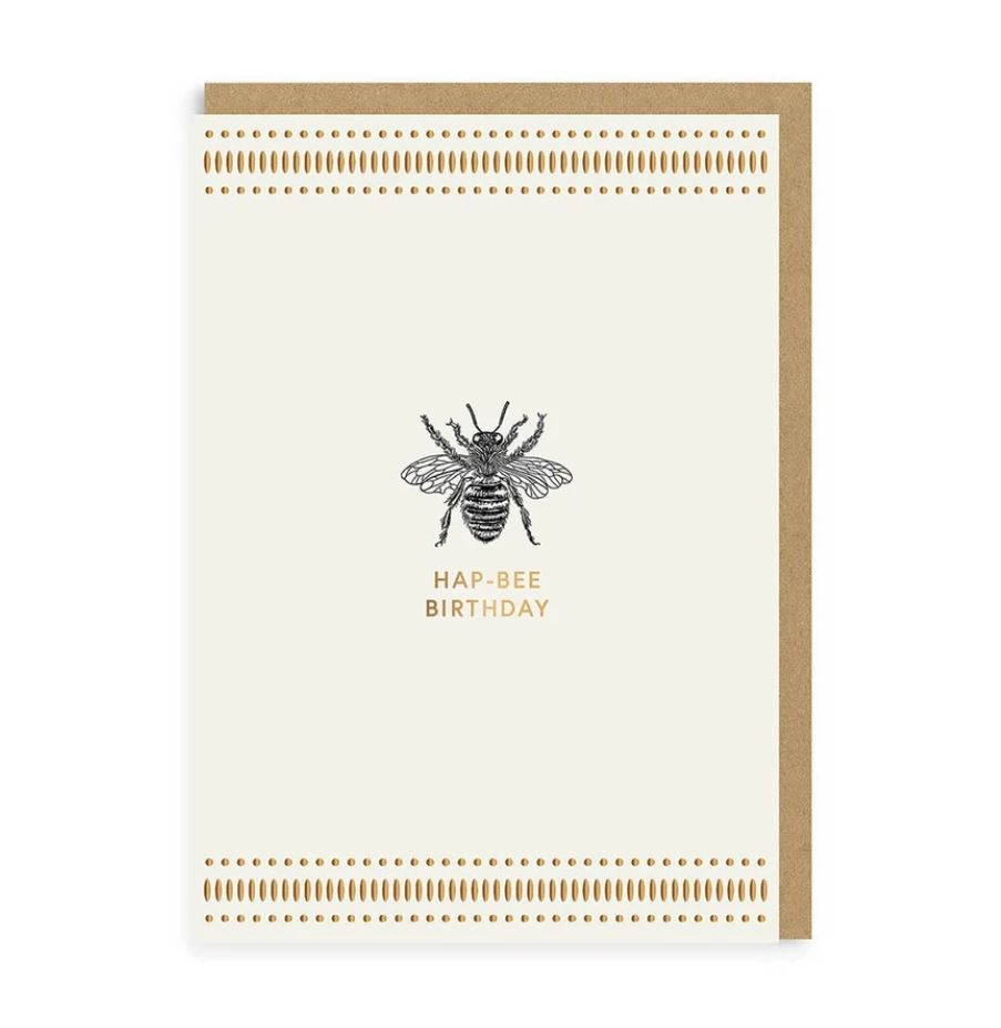 Mono Hap-Bee Birthday Greetings Card