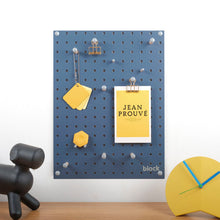 Load image into Gallery viewer, Block Design Pegboard - Navy