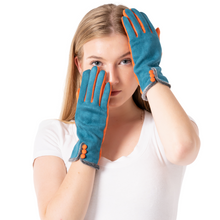 Load image into Gallery viewer, Teal & Orange Gloves