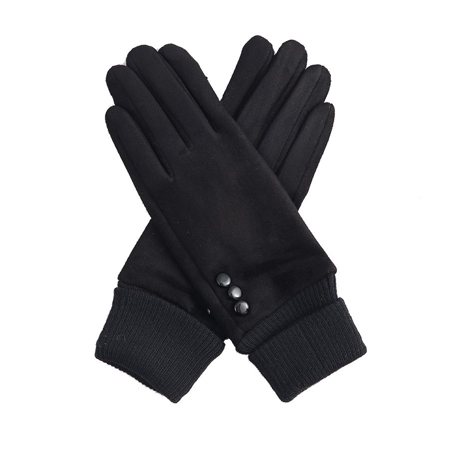 Black Cuffed Gloves