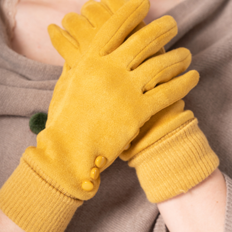 Mustard Cuffed Gloves