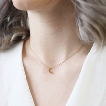 Load image into Gallery viewer, Gold Crescent Moon Necklace