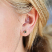 Load image into Gallery viewer, Tiny Bee & Daisy Stud Earrings