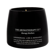 Load image into Gallery viewer, The Aromatherapy Co. Therapy Kitchen Candle Lemongrass, Lime, Bergamot
