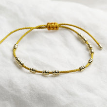 Load image into Gallery viewer, Mustard and Gold Friendship Bracelet