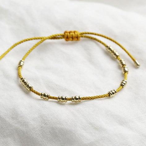 Mustard and Gold Friendship Bracelet