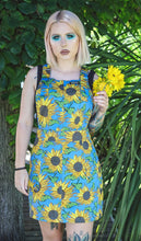 Load image into Gallery viewer, Run & Fly Sunflower Cotton Twill Pinafore