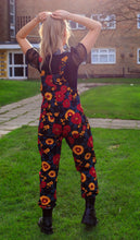 Load image into Gallery viewer, Run & Fly Retro Floral Stretch Twill Dungarees