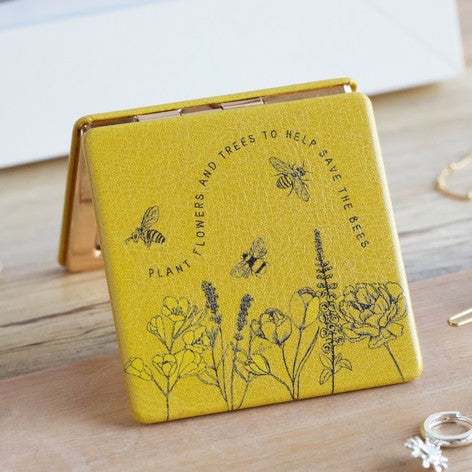 Flowers and Bees Compact Mirror