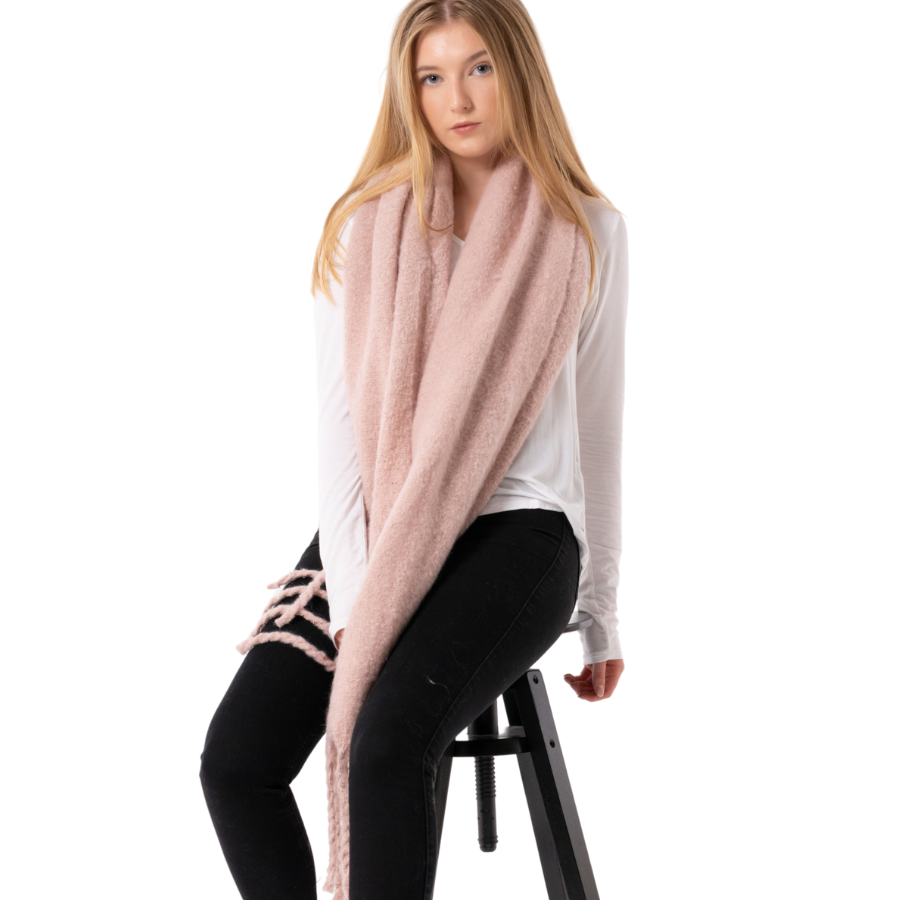 Chunky Pink Scarf