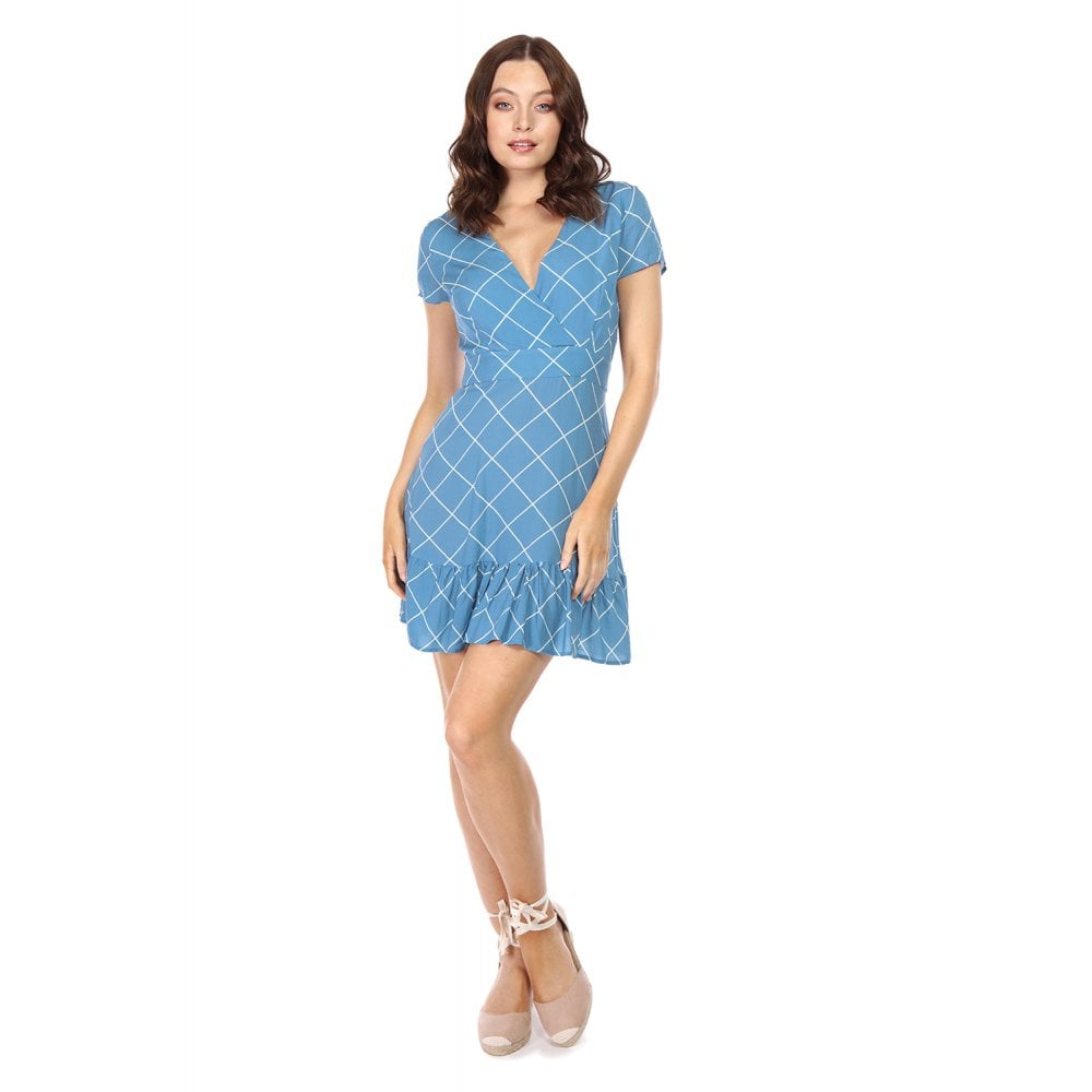 Bright & Beautiful Harlequin Check Mini Dress