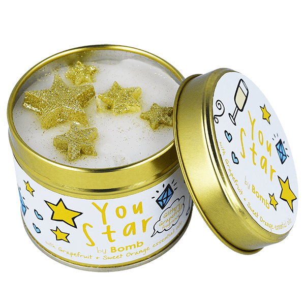 You Star Scented Candle Tin