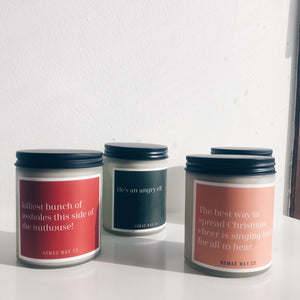 Holiday Collection 16 oz XLarge Jar Candle - 6 pack