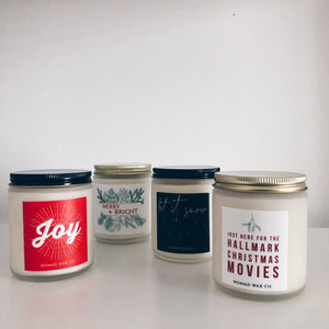 Holiday Collection 8 oz Med Jar Candle - 6 pack