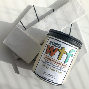 2020 WTF New Year Candle 16 oz XLarge Jar Candle - 6 pack