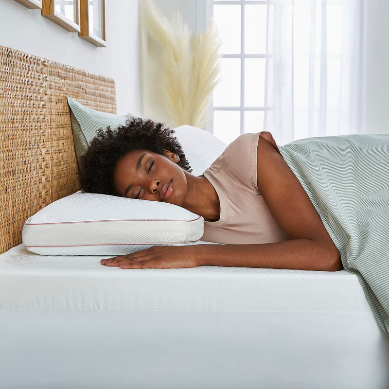 reversible support pillow with gel memory foam
