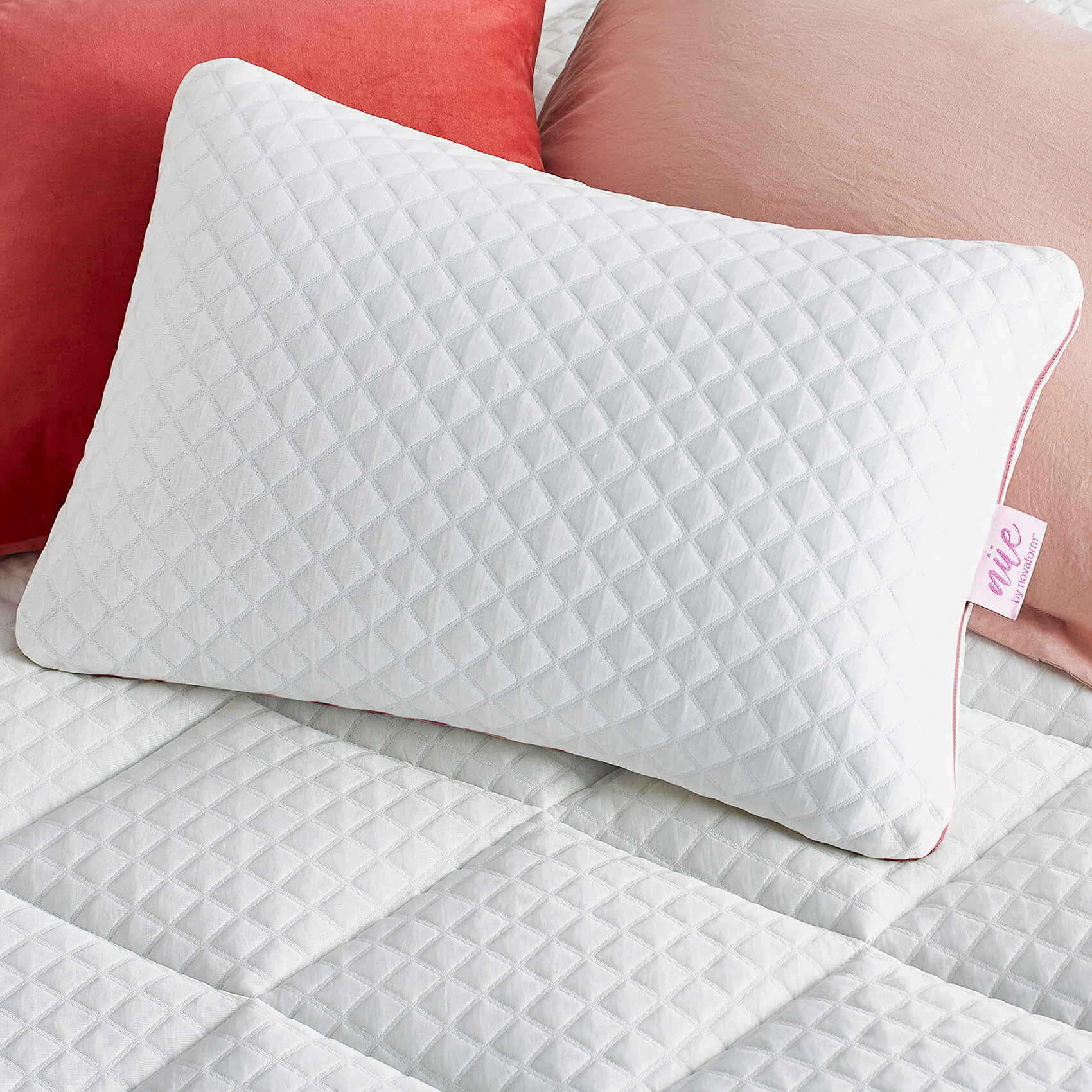 plush adjustable pillow with gel memory foam