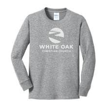 Load image into Gallery viewer, WHITE OAK CHRISTIAN CHURCH | Youth Long Sleeve | WHITE LOGO