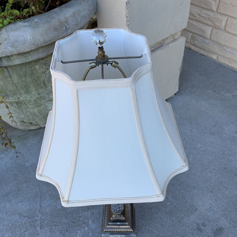 Cut Glass and Brass Table Lamp 32.5""
