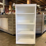 Painted Four Shelf Bookcase 16.5 X 24 X 48