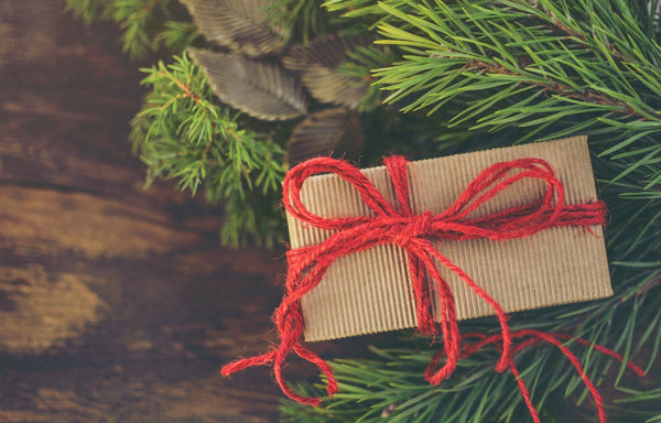 Sustainable Christmas Gift wrapped in recyclable paper