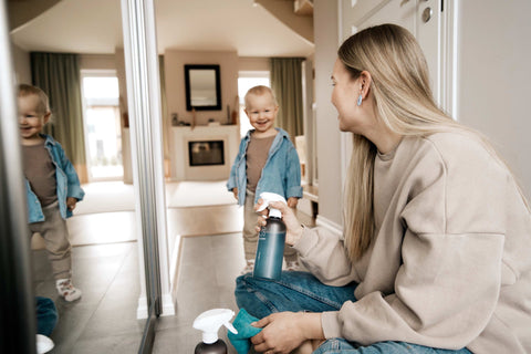 Sustainable cleaning with your kids