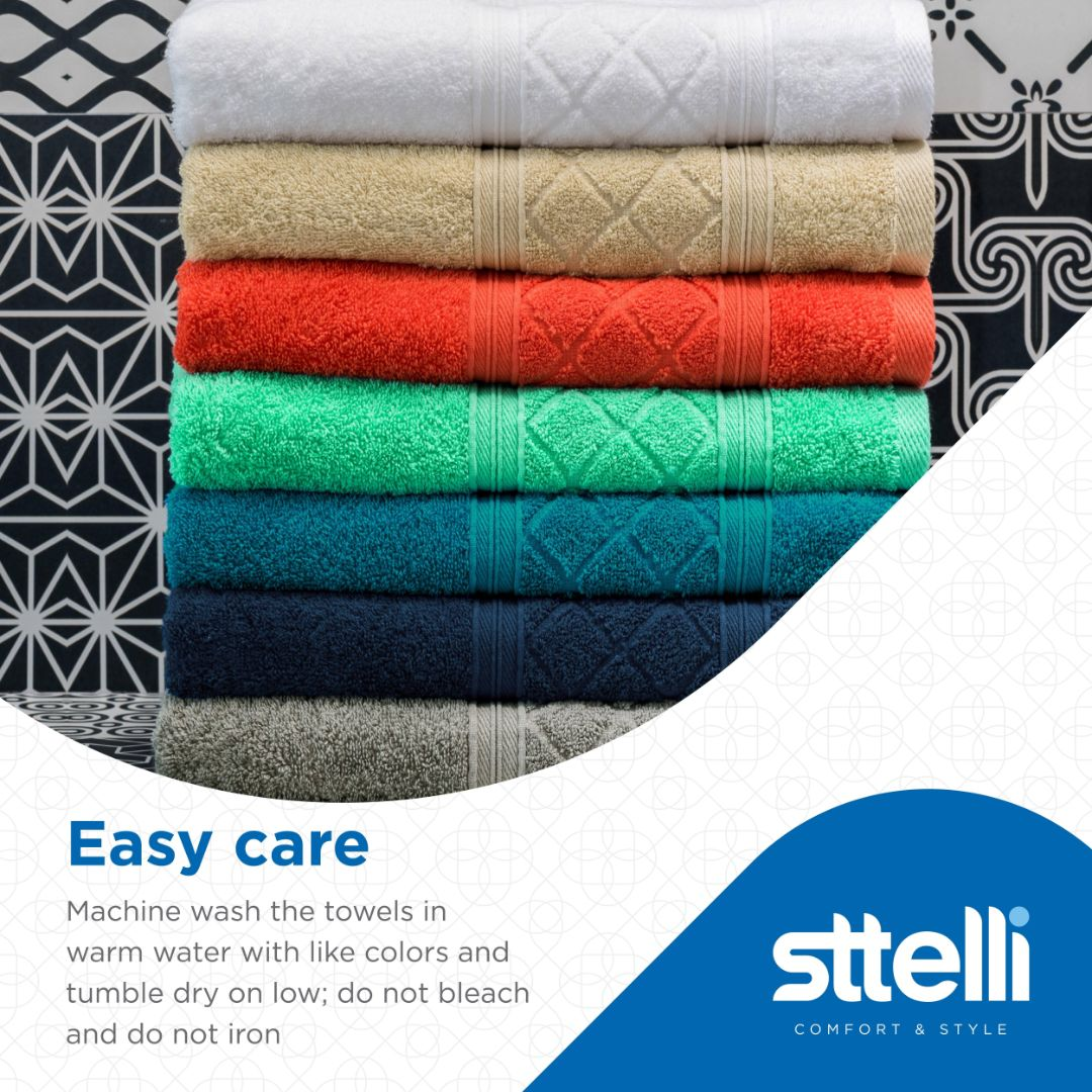 Sttelli Radiance 6-Piece Bath Towel Set - Durable, Soft and Absorbent, Includes 2 Bath Towels, 2 Hand Towels, and 2 Wash Towels - Mushroom
