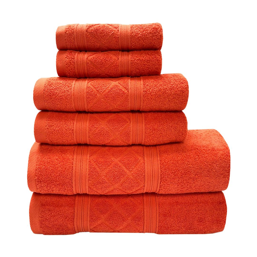 Sttelli Radiance 6-Piece Bath Towel Set - Durable, Soft and Absorbent, Includes 2 Bath Towels, 2 Hand Towels, and 2 Wash Towels - Tulip