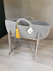 Organic Cotton Moses Basket with Stand